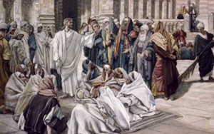 pharisees do not honor Jesus